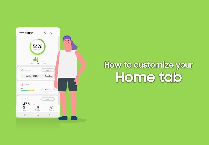 A video tutorial of Samsung Health, the title: How to customise your Home tab.