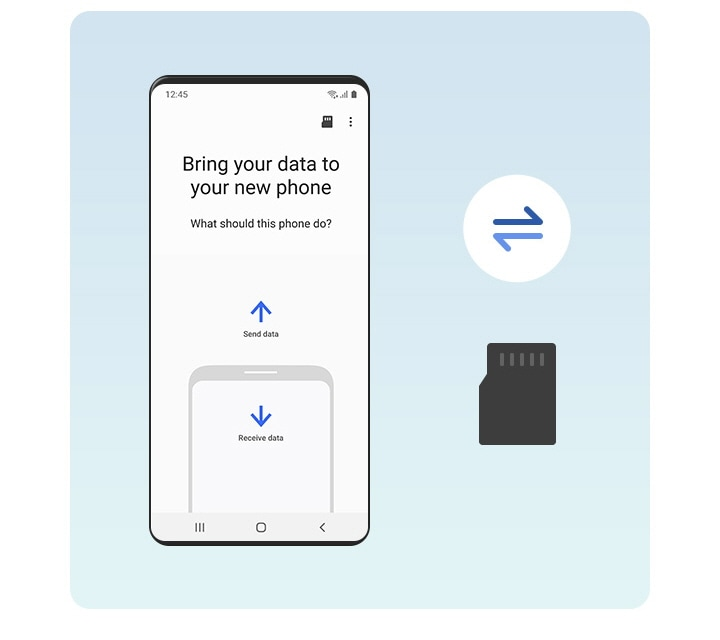 Restore data to a Galaxy device from an SD card.