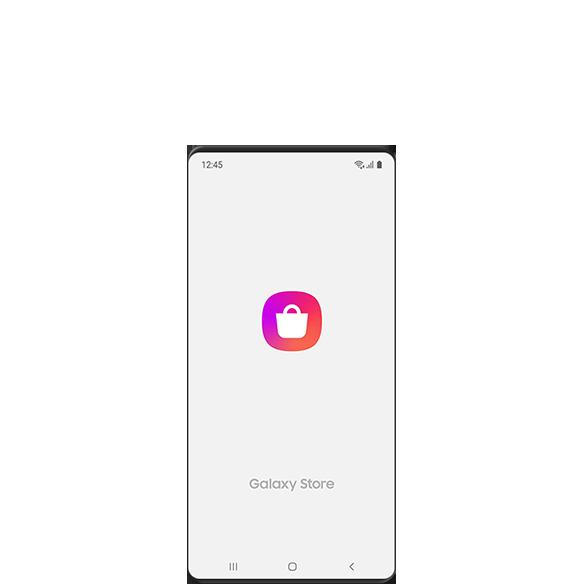 Galaxy Store 應用程序的啟動屏幕 GUI。