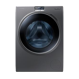 غسالة التحميل الأمامي WW9000H مع باب أزرق شفاف وتكنولوجيا Eco Bubble