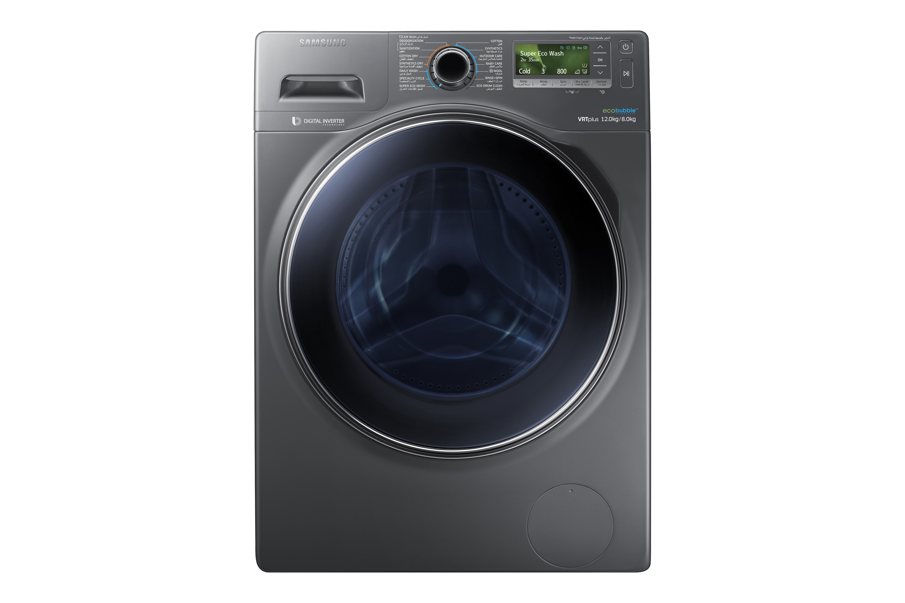 WD12J8420GX Combo (Wash&Dry) with EcoBubble™, 12 Kg