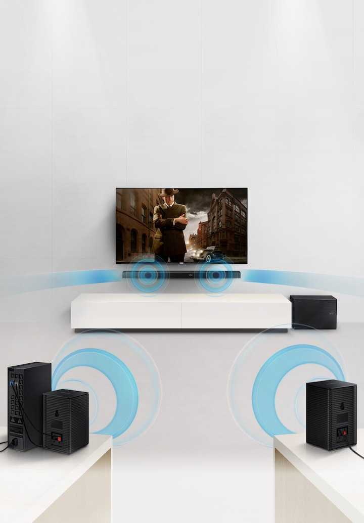 Build a surround sound system wirelessly