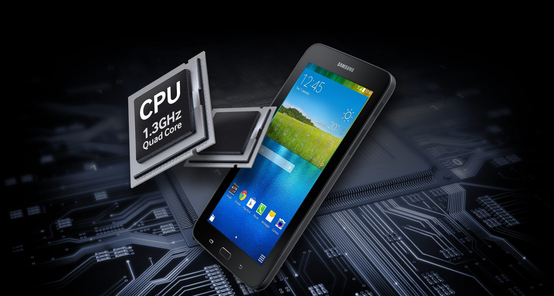 1.3 GHz Quad Core Processor