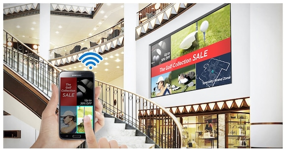 Convenient wireless content sharing and digital signage control