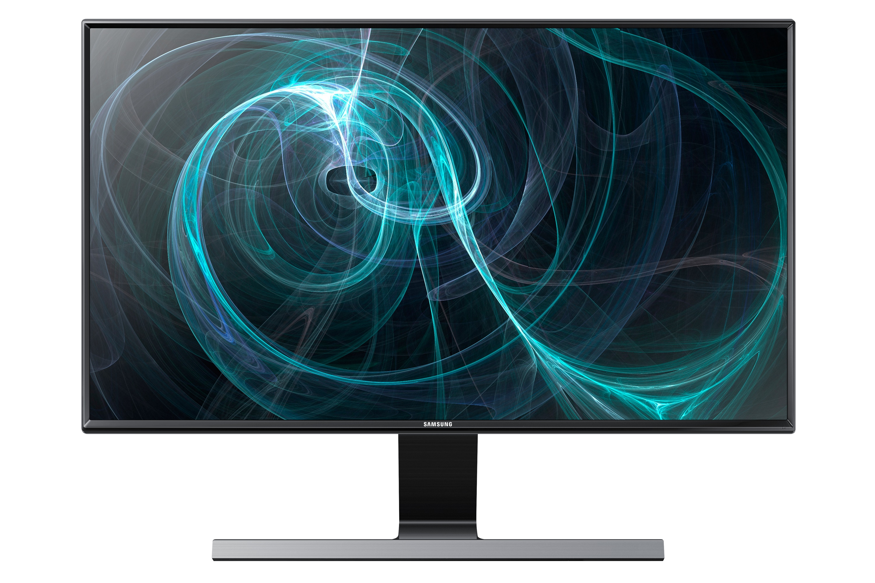 "24"" Minimalist LED monitor with a metallic stand"
