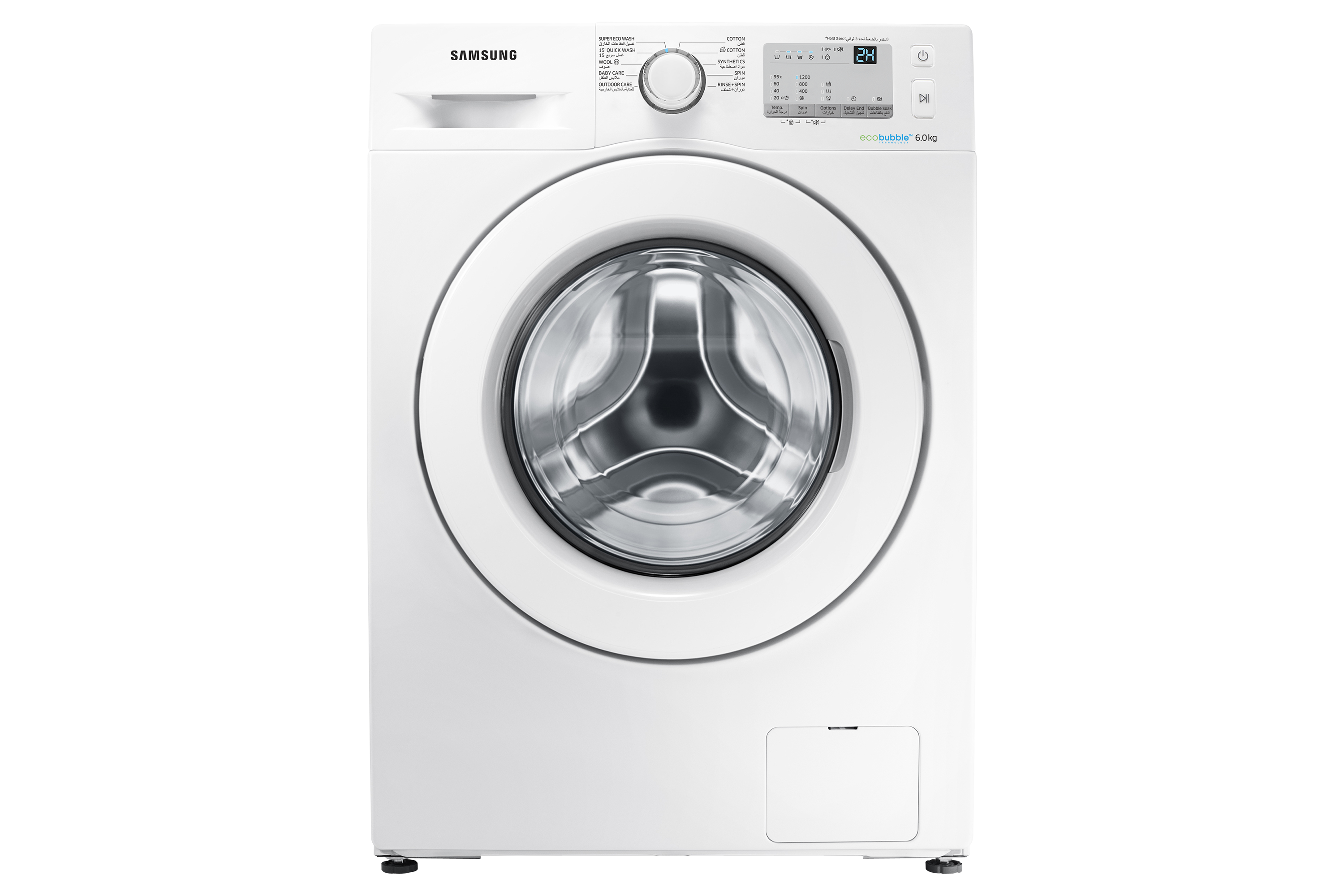 WW60J3263LW Front Loading Washing Machine with Eco Bubble Technology, 6 Kg