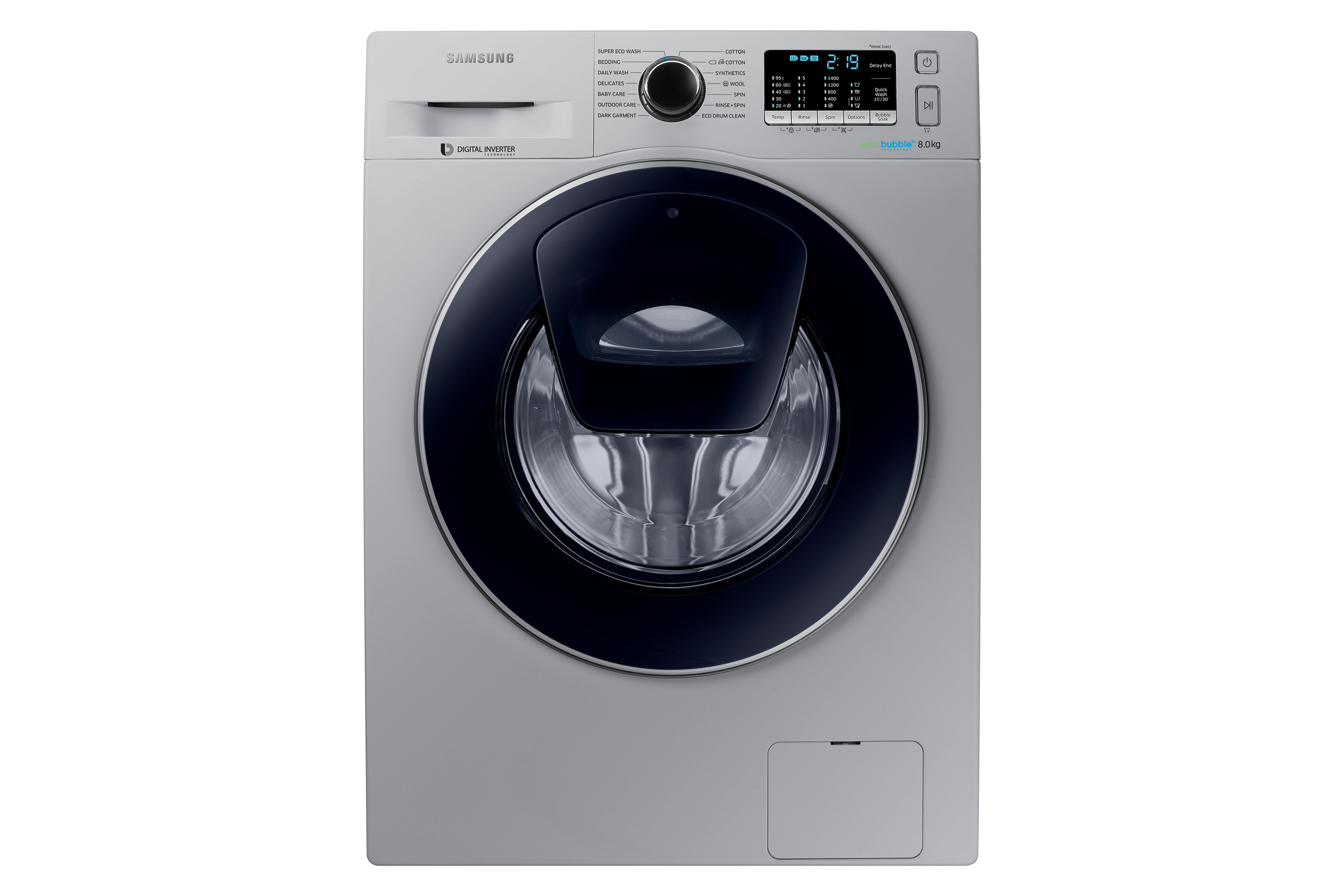 WW5500 Front Loading Washing Machine with Eco Bubble Technology, 8 kg
