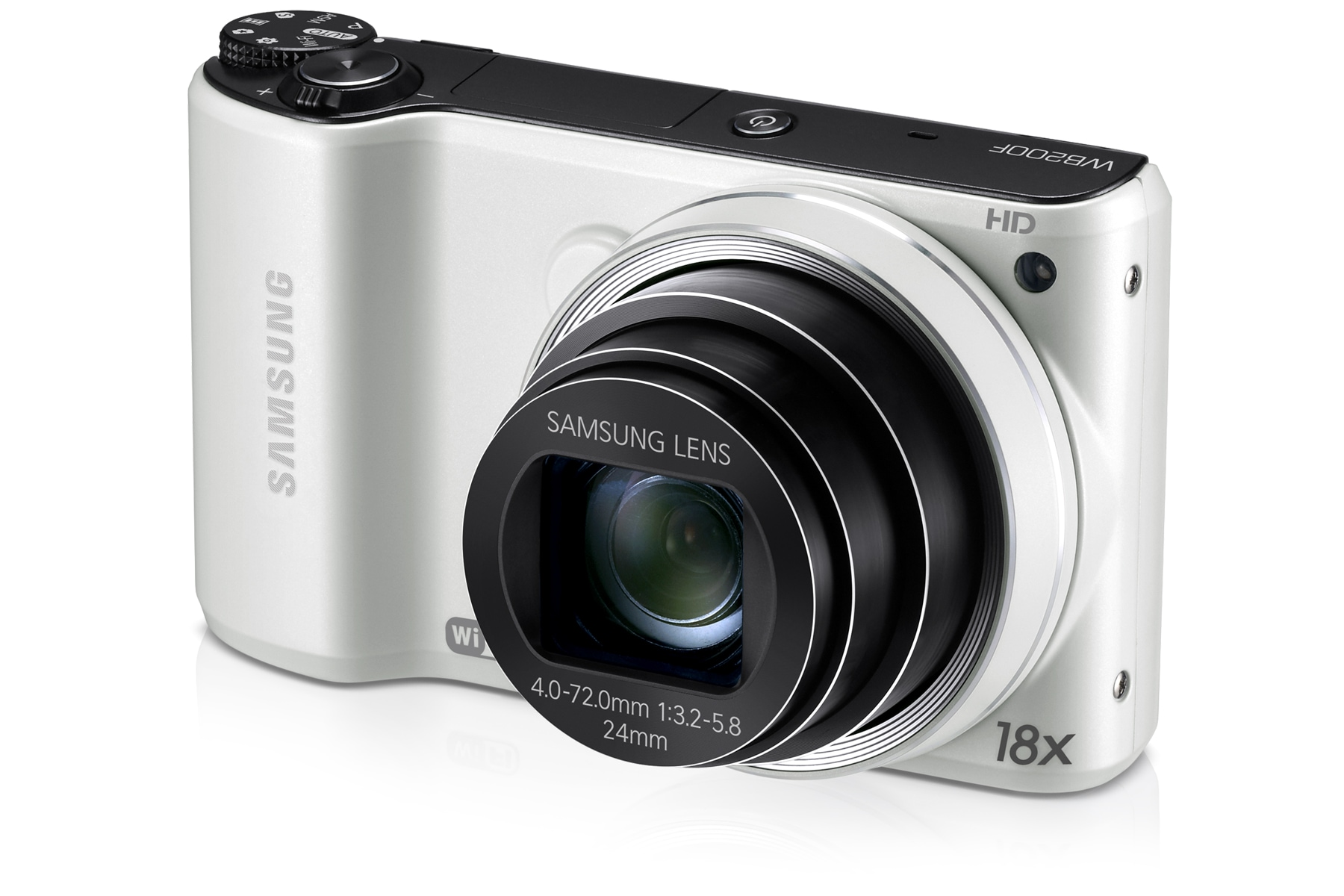 SAMSUNG WB200F Right-Angle White