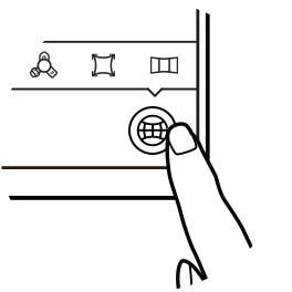 """Ilustração de uma mão a tocar num botão no canto inferior direito do ecrã de um Galaxy S8, representando o passo """"Ver"""". Ver    step."""