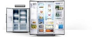Eclairage LED élégant et à faible consommation d'énergie pour le réfrigérateur et le congélateur.