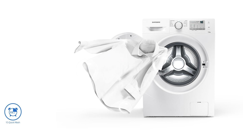 Le programme de Lavage rapide constitue la solution parfaite pour les personnes occupées, pour un lavage rapide et efficace des vêtements peu sales qui vous laisse plus de temps libre.