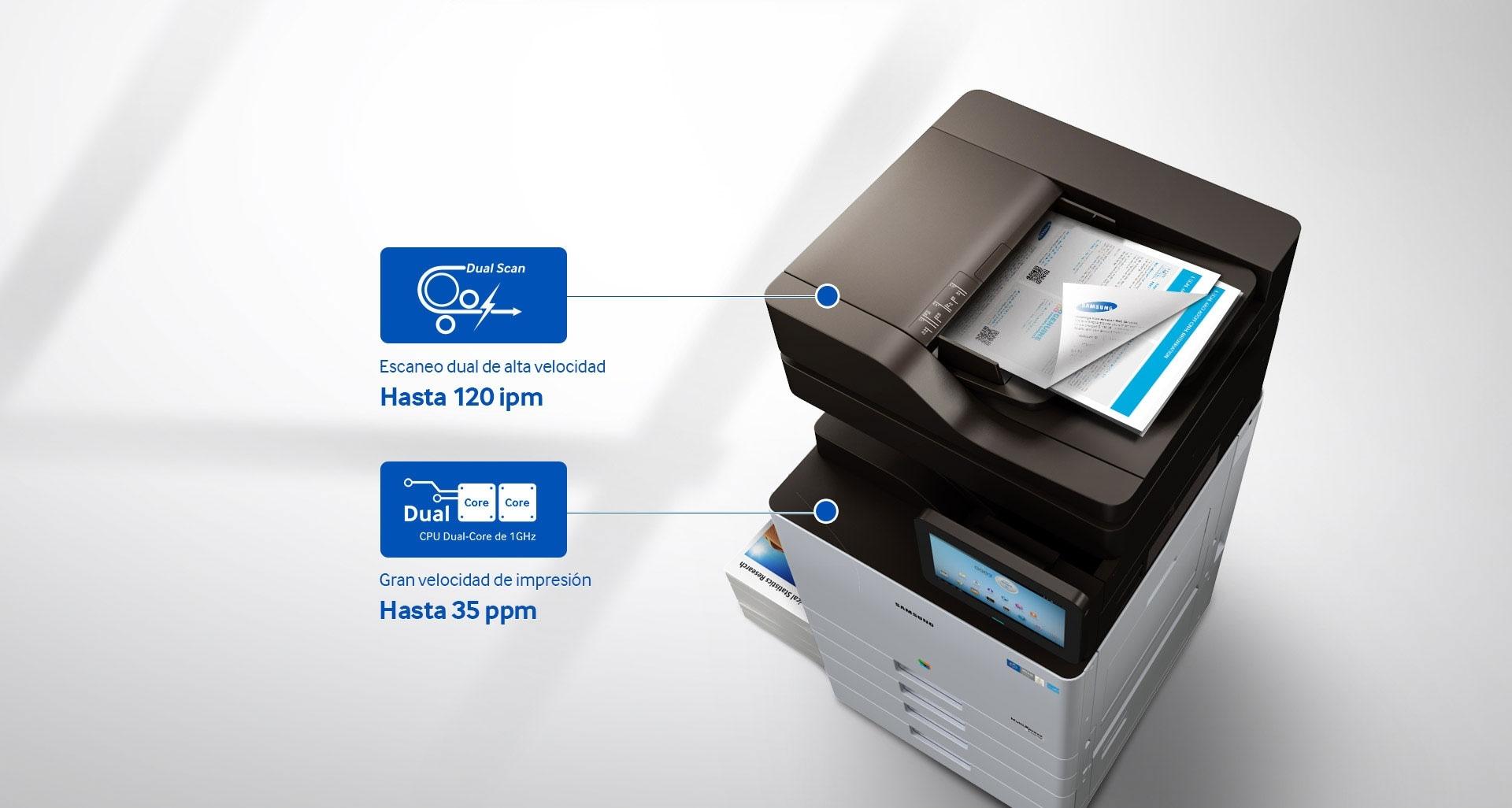Escaneo más rápido e impresión sin complicaciones