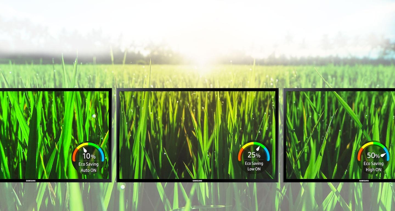 La tecnología de ahorro ecológico de Samsung reduce el consumo de energía y el impacto ambiental
