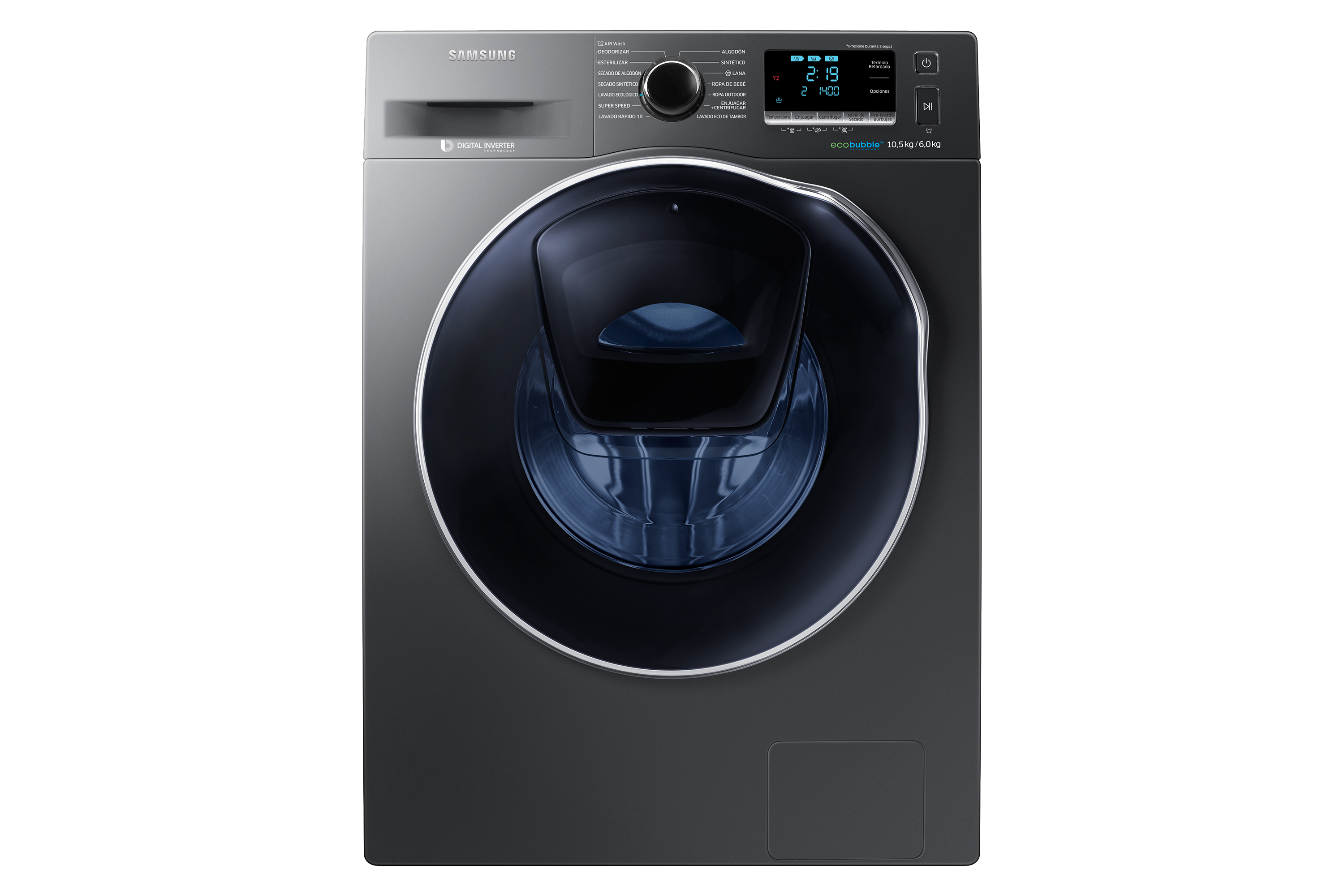 Lavasecarropas 10kg/6kg Digital Inverter con AddWash y AirWash, WD10K6410OX