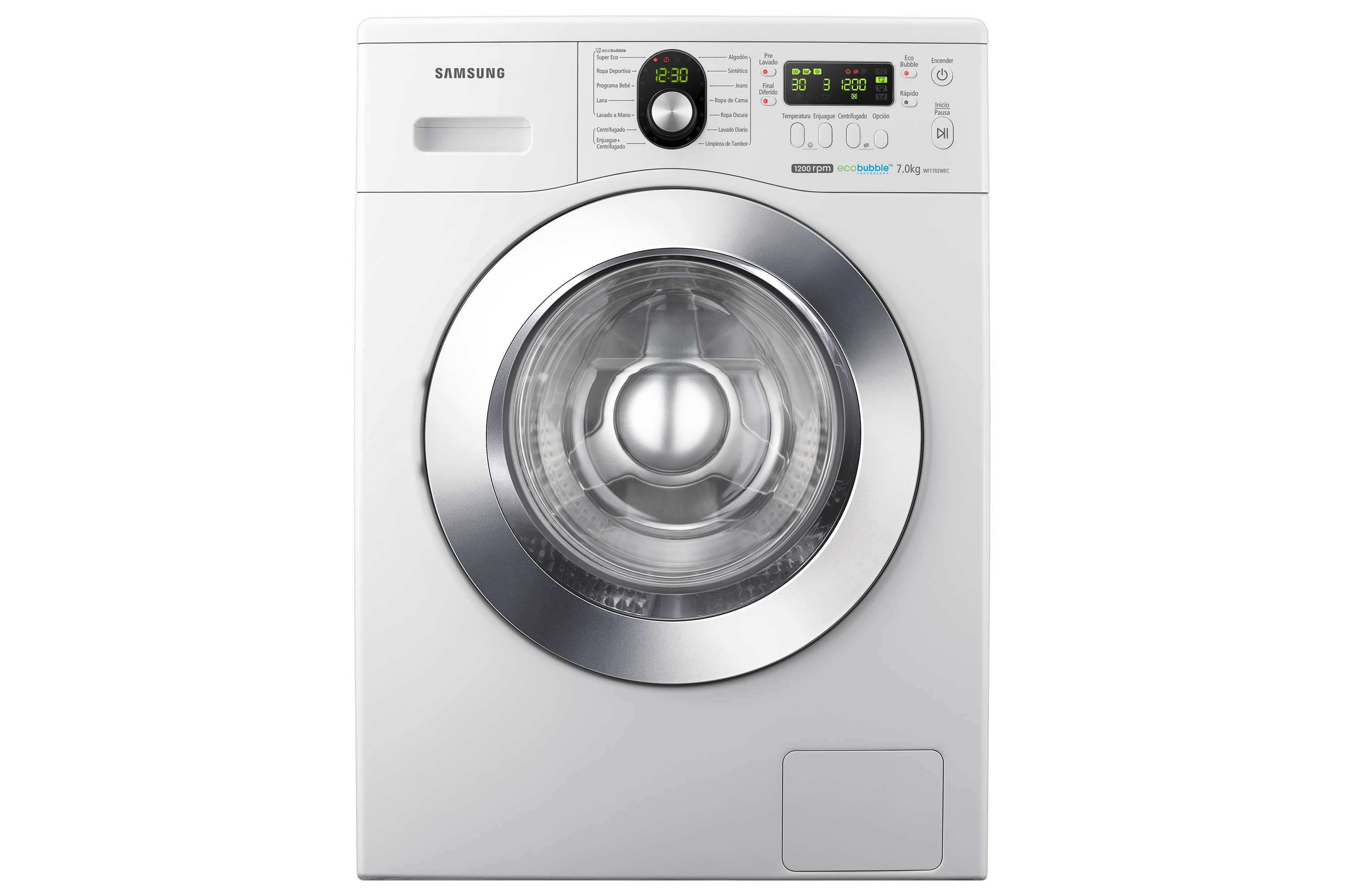 Lavarropas WF1702 con Eco Bubble™, 7KG (Blanco)