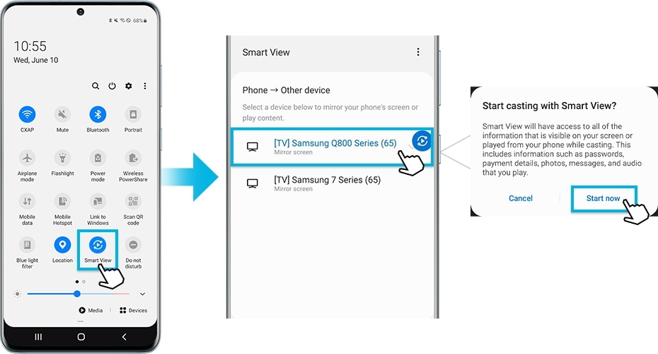 To Mirror From Your Samsung Smartphone, How To Screen Mirror Phone Samsung Smart Tv