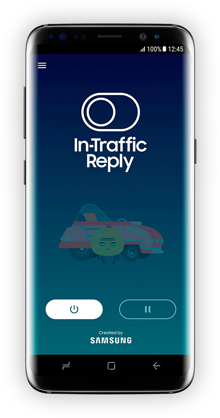 In-Traffic Reply app staat uit.