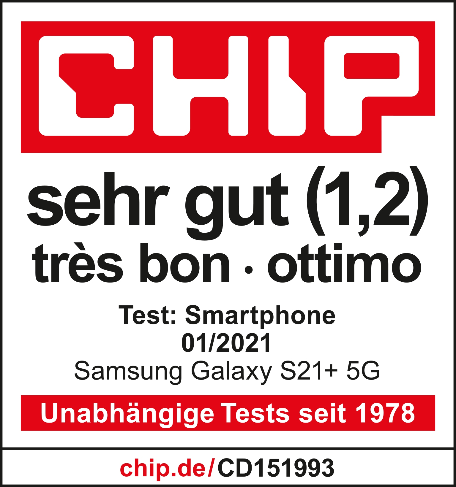 Chip - Très bon (1,2) - Galaxy S21+ 5G