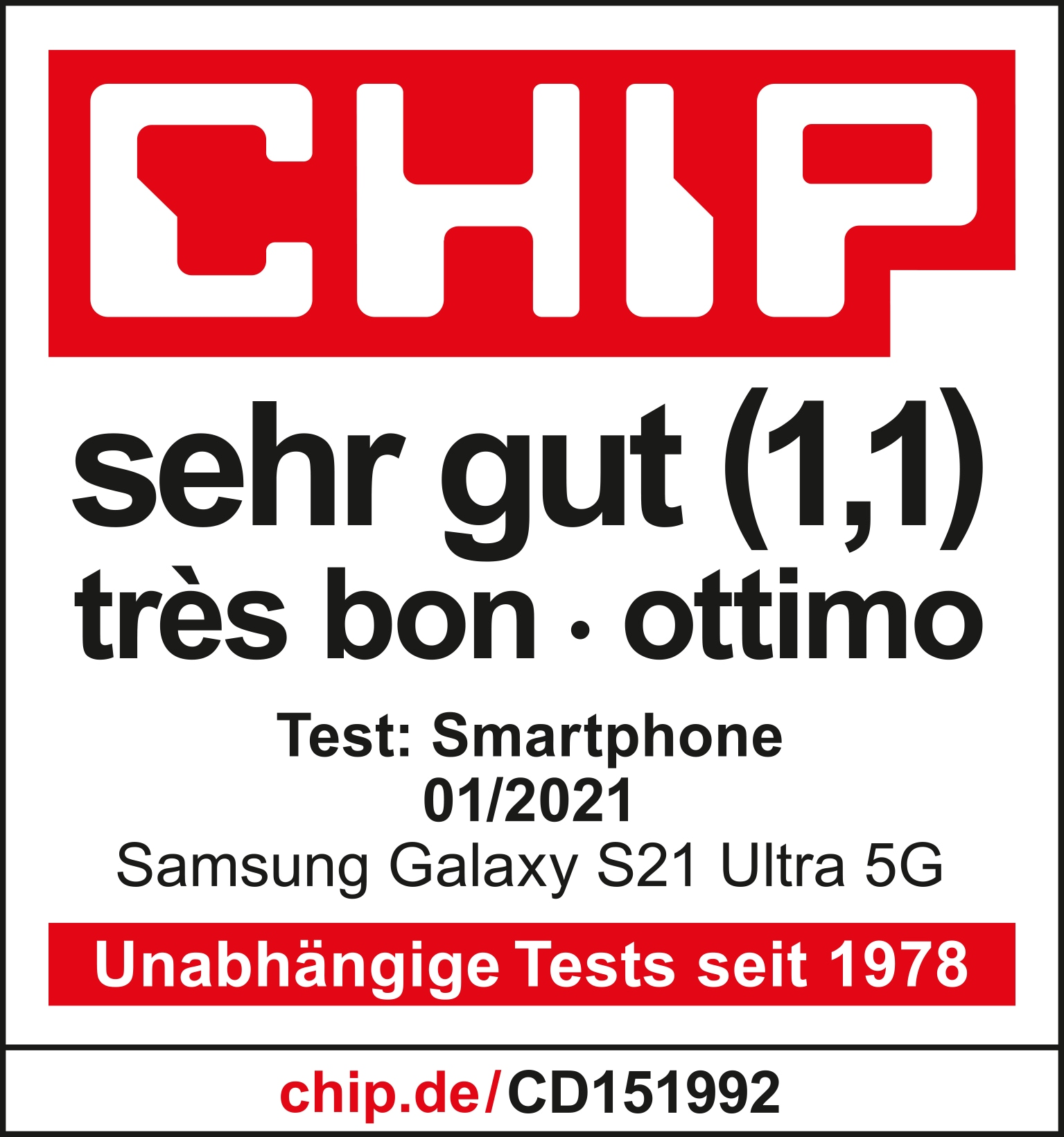 Chip S21 Ultra award