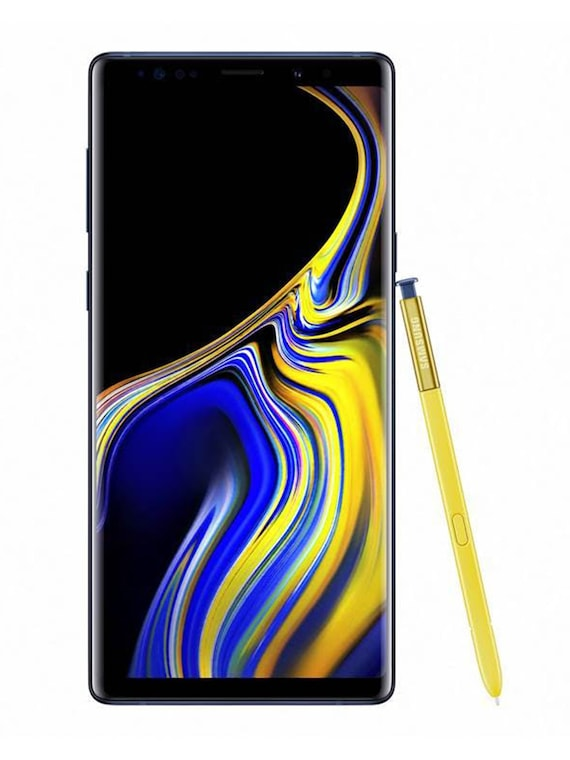 Samsung Galaxy Note9  with yellow note pen