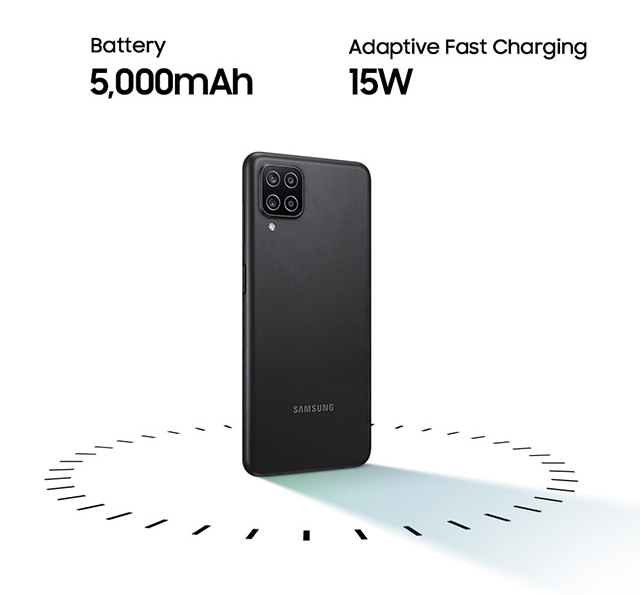 Galaxy A12 - 5000mAh Battery with Adaptive Fast Charging