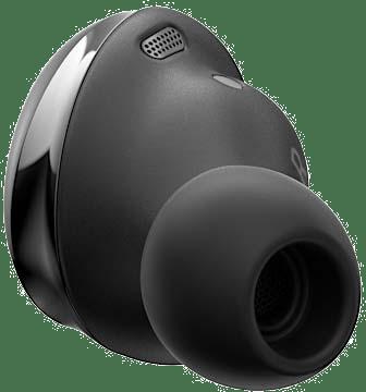 Auricular derecho Galaxy Buds Pro en color negro fantasma visto desde atrás.