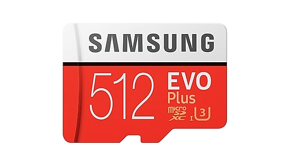 MicroSD EVO Memory Card with Adapter 512GB