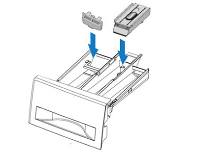 Replace compartments in detergent drawer