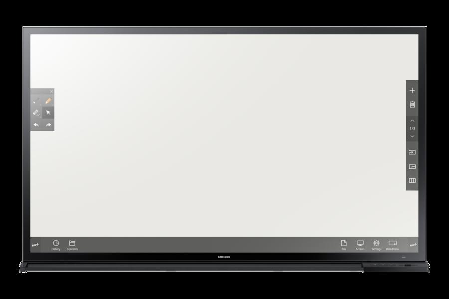 65 LED Interaktives Whiteboard DM65E-BC BC Front black