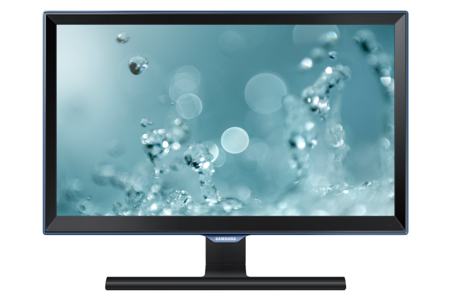 22 LED Monitor  mit Touch of Color Rahmen S22E390H Vorderseite Schwarz