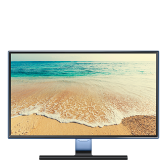 24 TV Monitor mit Touch of Color Rahmen