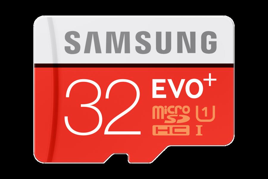 EVO Plus microSD Karte (SD Adapter) MC32D Vorderseite Rot