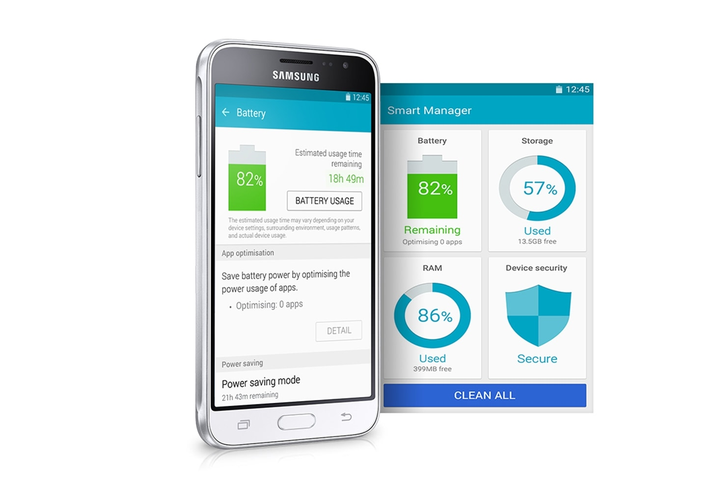 Samsung Galaxy J3 2016 Black Price And Specs Au J320 Take Control Of Your Device At A Glance With Smart Manager Access The Status Phones Battery Storage Ram Usage Security Ease