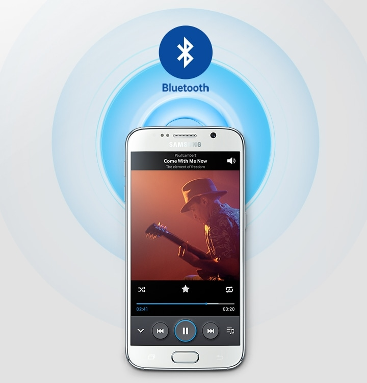 Stream music via Bluetooth