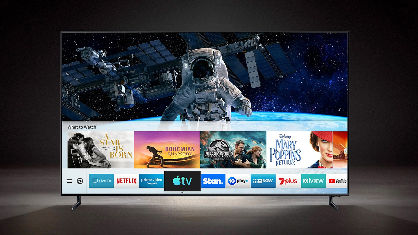 Watch Apple TV on QLED