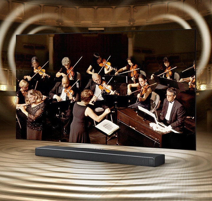 TV and soundbar designed to be in perfect harmony