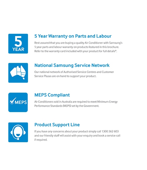 Samsung Air Conditioning Committed to After Sales and Warranty Support