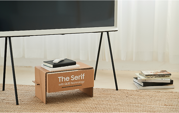 The Serif - Eco Packaging TV Console