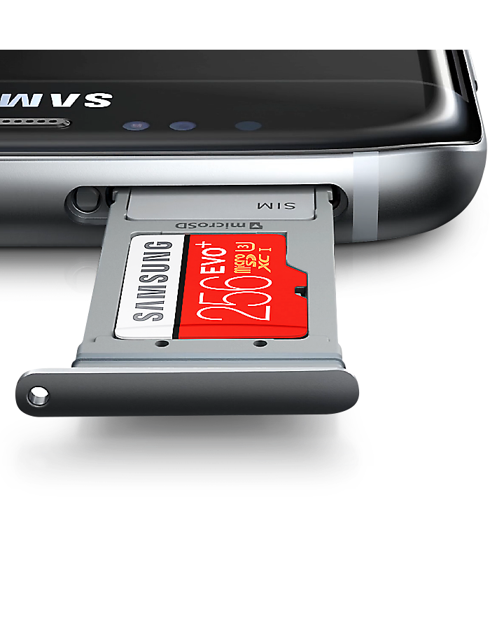 Samsung's microSD card with up to 256GB of capacity for photos and video on your compatible smartphone.