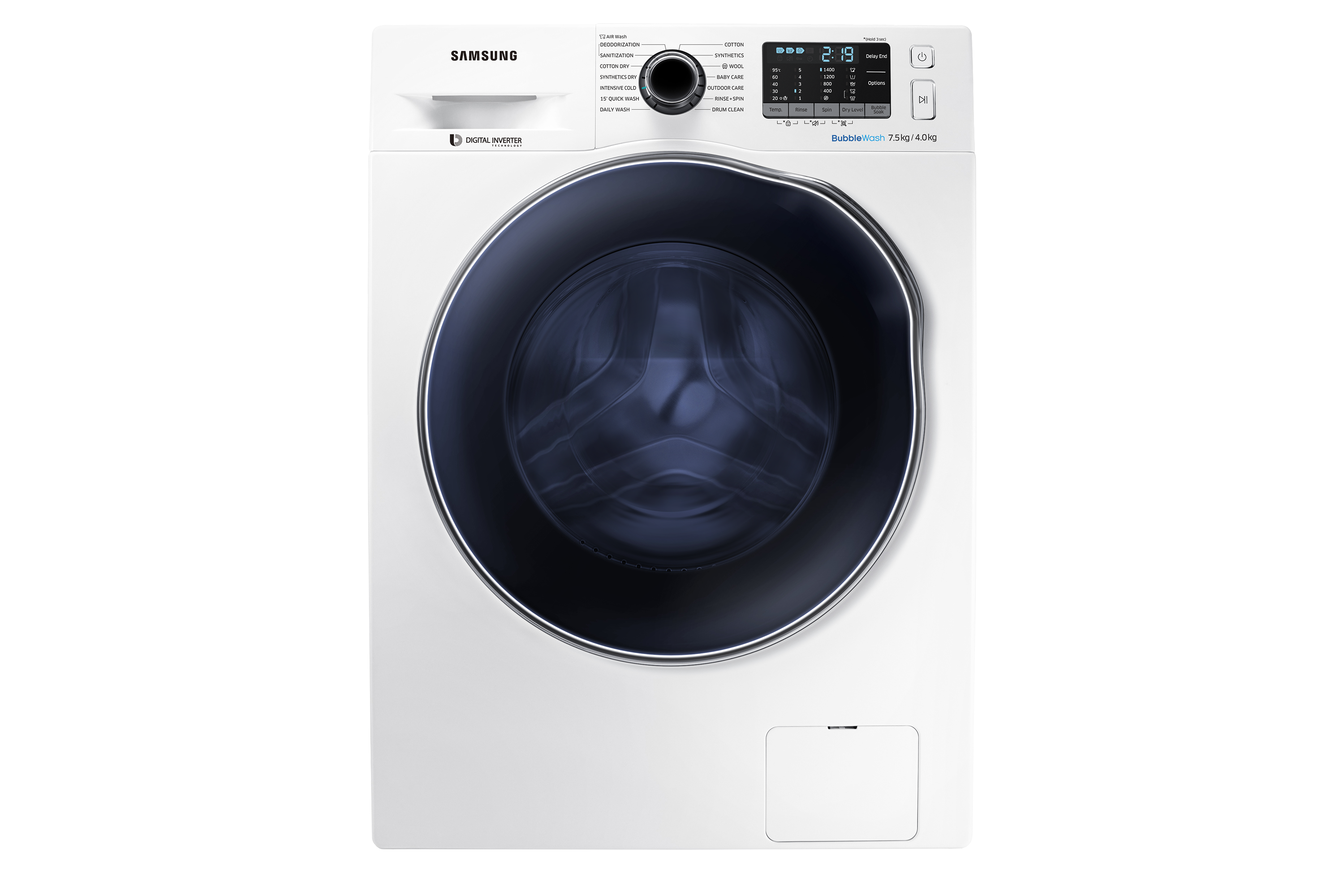 7.5kg/4kg Front Load Washer / Dryer Combo  - WD75J5410AW