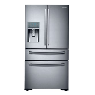 Four Door French Door Refrigerator Twin Cooling, Counter Depth