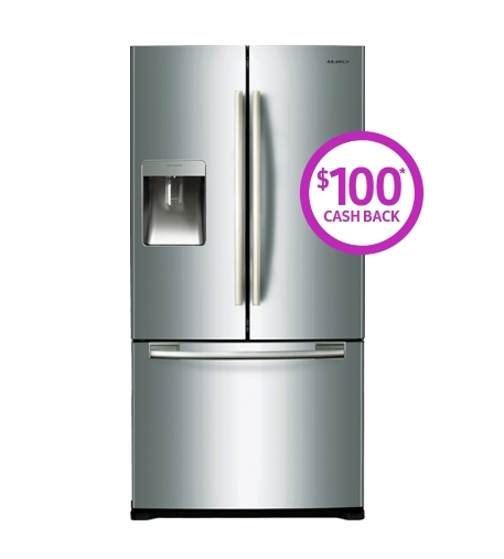 583 Litre capacity French Door Refrigerator Ice and Non Plumbed Water Dispenser (SRF583DLS)