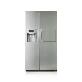 Side by Side Refrigerator, Twin Cooling with Handy Hatch
