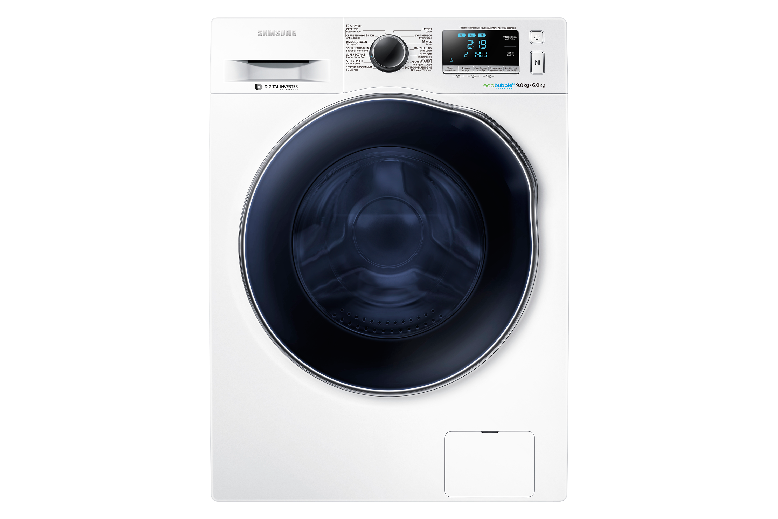 9KG EcoBubble™ Was/Droog Combi WD91J6400AW