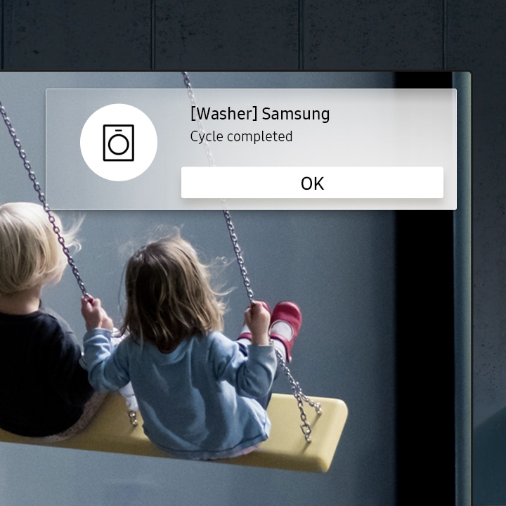 Samsung Premium UHD TV On screen notification