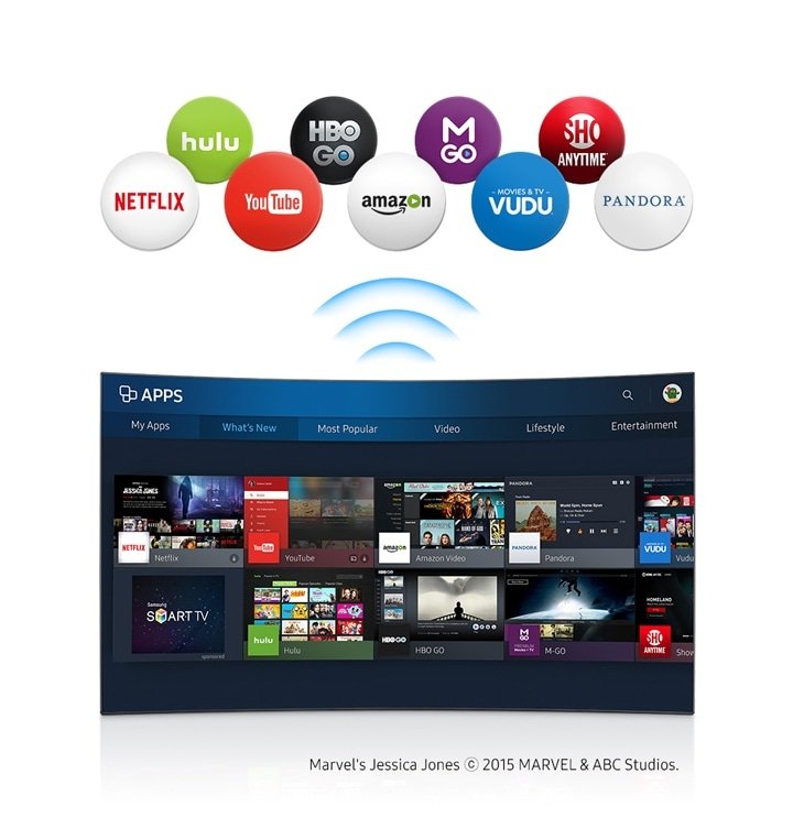 6-Series Curved UHD TV UE49KU6670 Wi-Fi