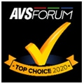 AVS Forum Top Choice, mars 2020