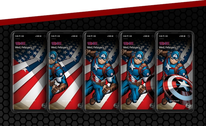 Galaxy Friends Captain America