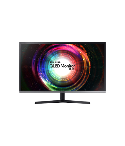 WQHD Curved Moniteur front black
