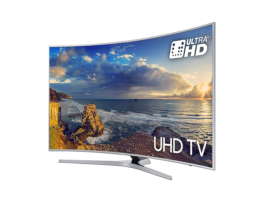 Curved UHD TV UE55MU6500 r-perspective silver